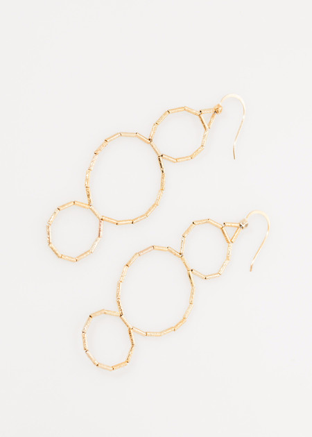 5 Octobre Triple Hoop Earring