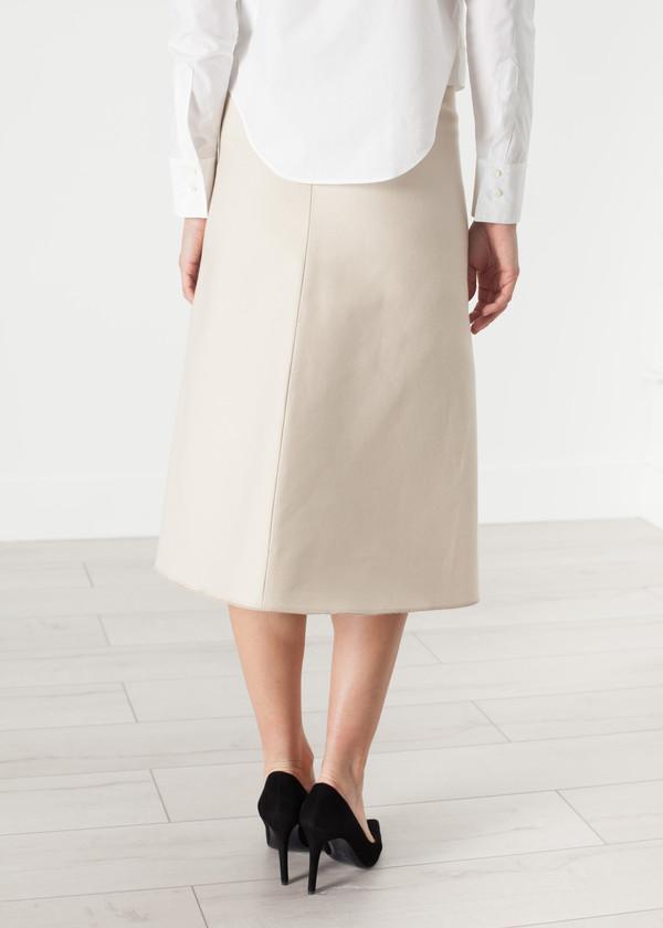 Ter et Bantine Tulle Pleat Skirt in Cream