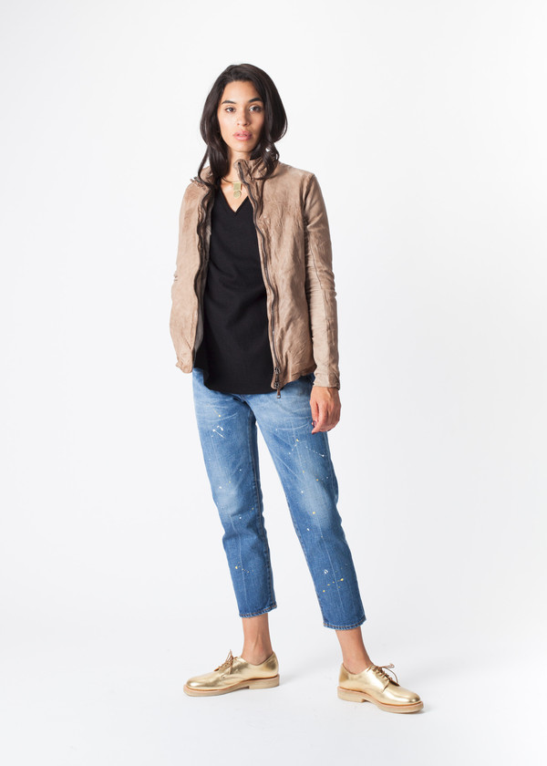 Giorgio Brato V Waist Leather Jacket