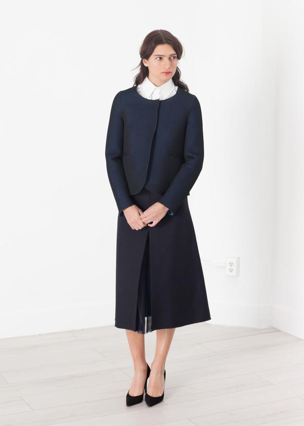 Hache Weave Jacket in Black/Blue