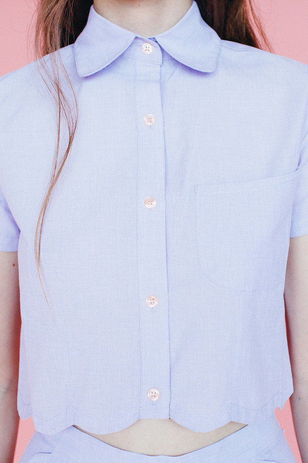 Wave blouse - lavendar