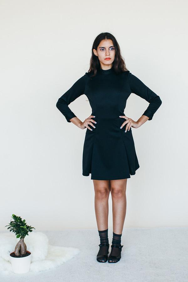 Samantha Pleet Booster Dress - Black