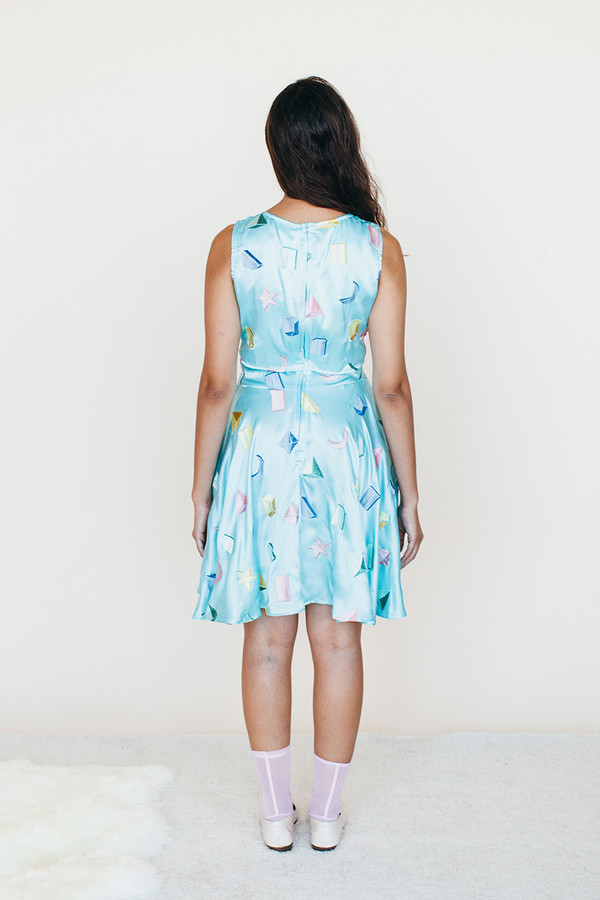 Samantha Pleet Strata Dress - Sky