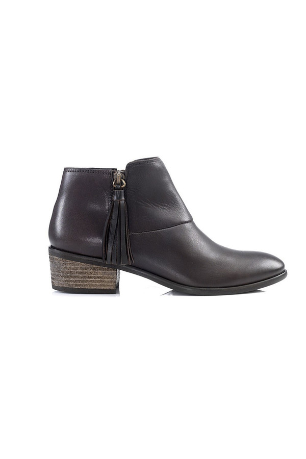 Artemisia Flora Brown Leather Ankle Boots