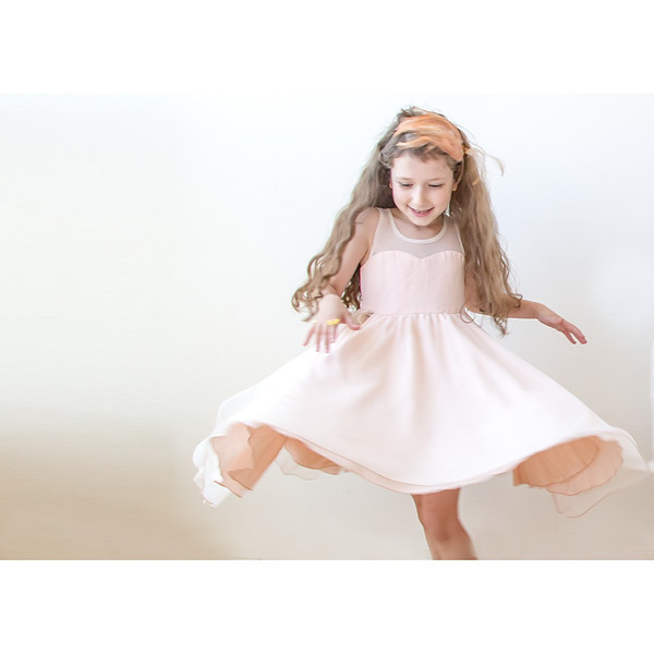 Kid's Blush Girls Sweetheart Tulle Dress