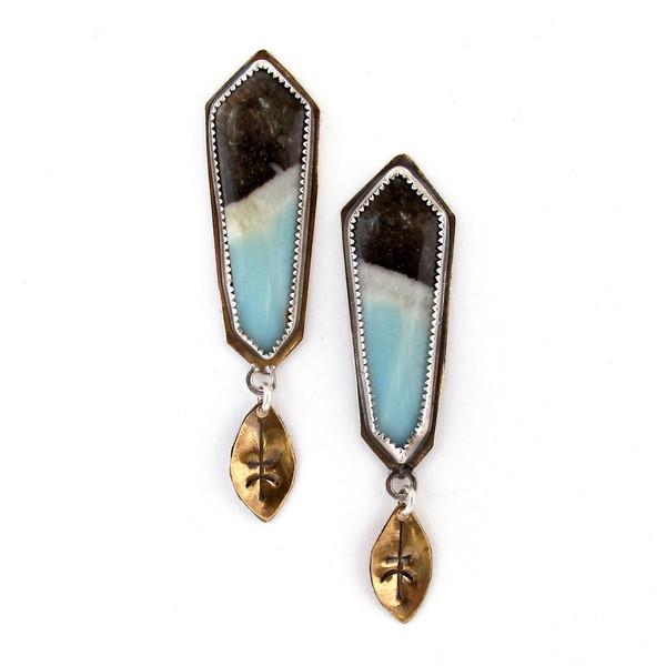 Laurel Hill Amazonite Runic Shield Earrings