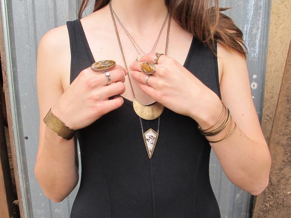 Laurel Hill Crescent Necklace