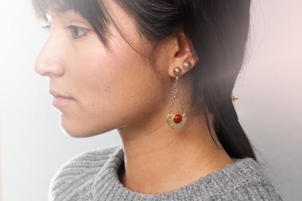 Laurel Hill Meridian Arc Earrings