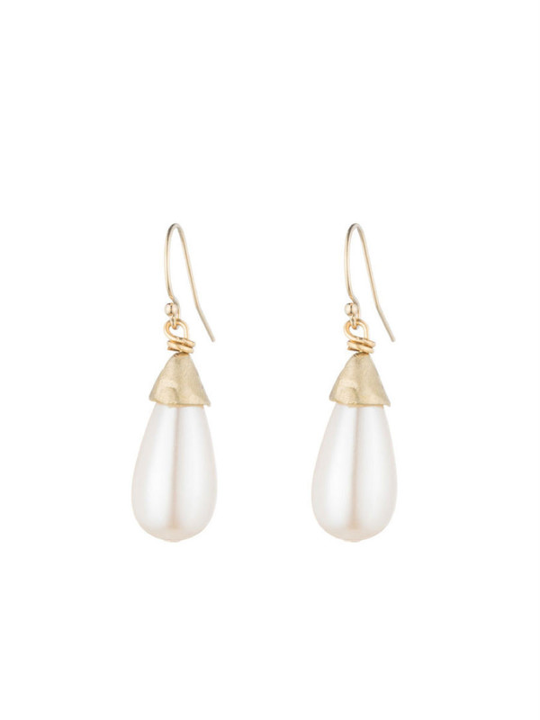 NATALIE FRIGO Small Tear Drop Pearls