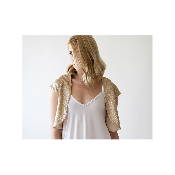 Blush Gold Sequin Bolero