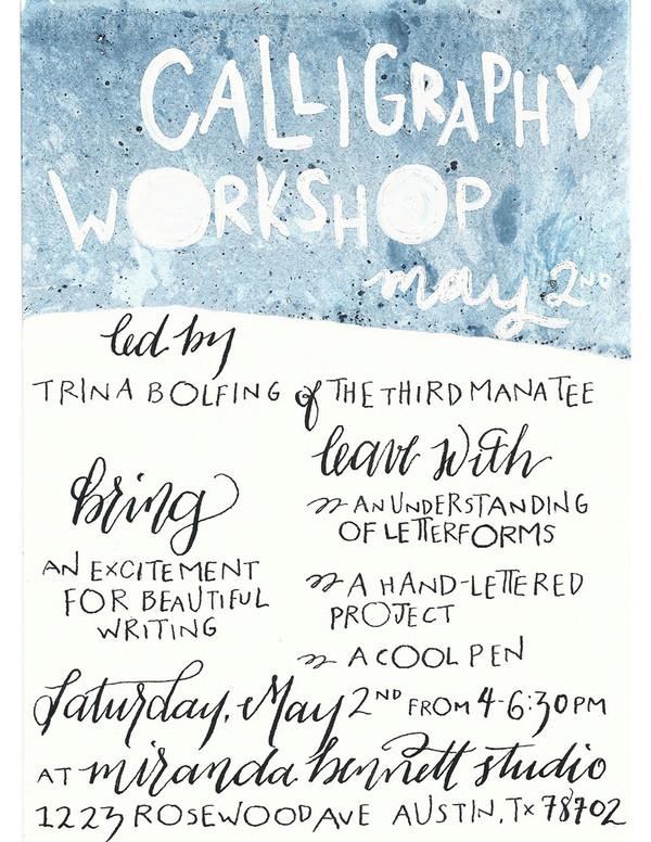 Workshop III : Calligraphy with Trina Bolfing
