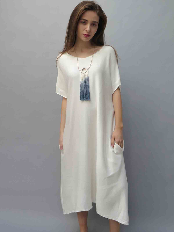 BIG FUN THING Fleece Maxi Dress
