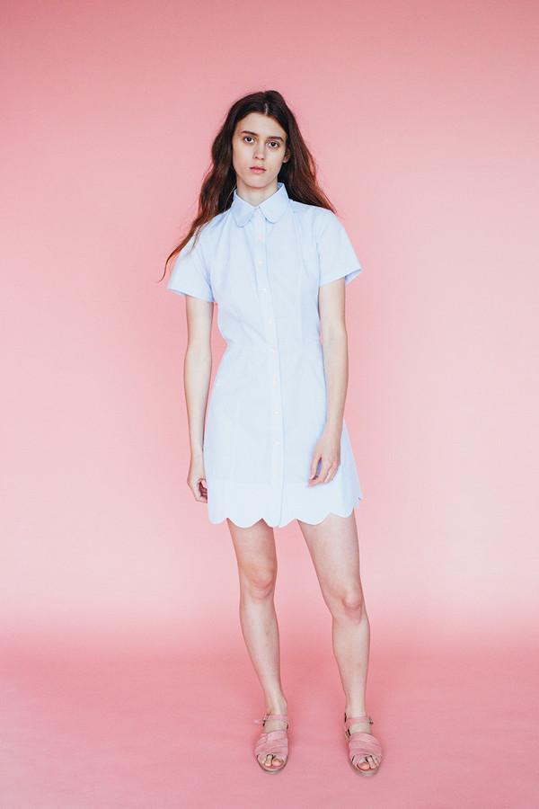 Samantha Pleet Wave dress - Sky