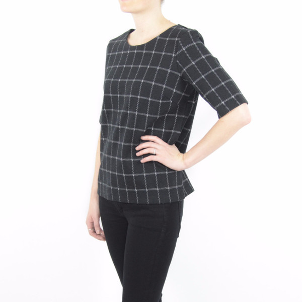 Just Female Merlis Check Tee