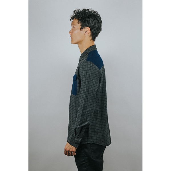 Men's WOLF & MAN SWAIN - WOVEN BUTTON UP