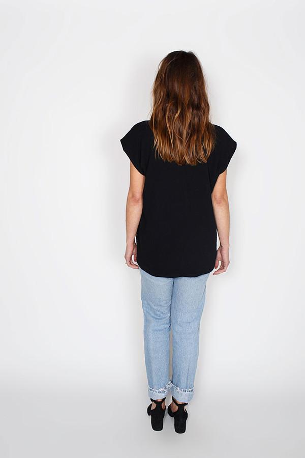 Sale! Black Everyday Top, Double Gauze