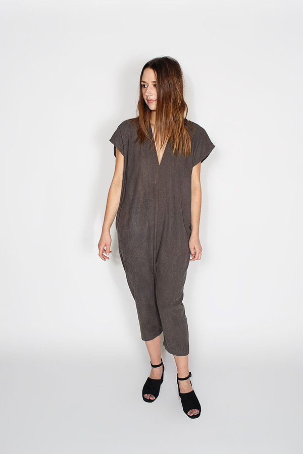Sale! Everyday Jumpsuit, Silk Noil in Coal