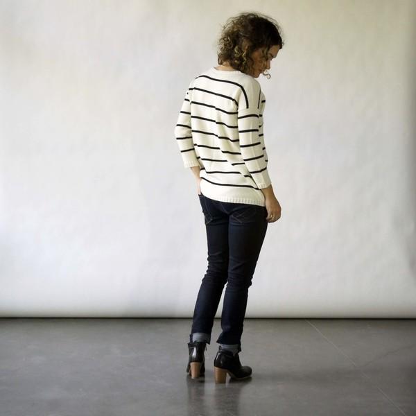 Doris Sweater in Ivory