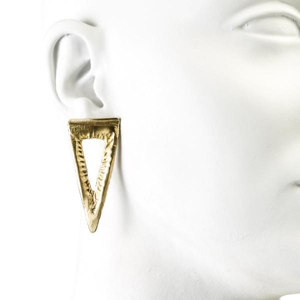 Natalie Frigo Large Triangle Dagger Earrings