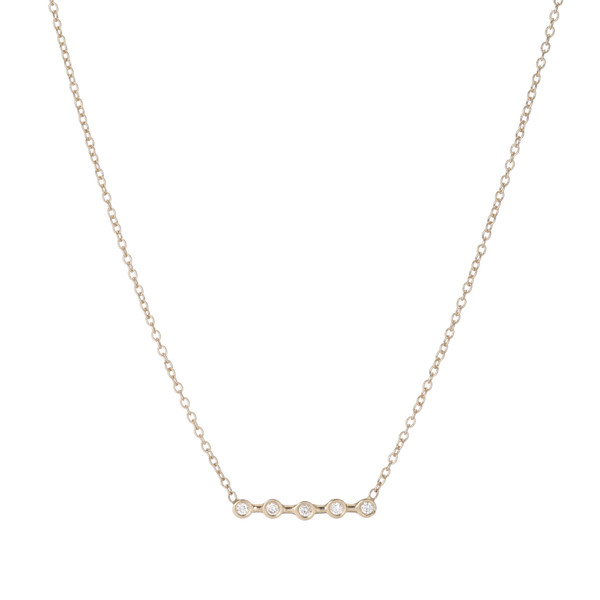 Ariel Gordon 14K Diamond Horizon necklace