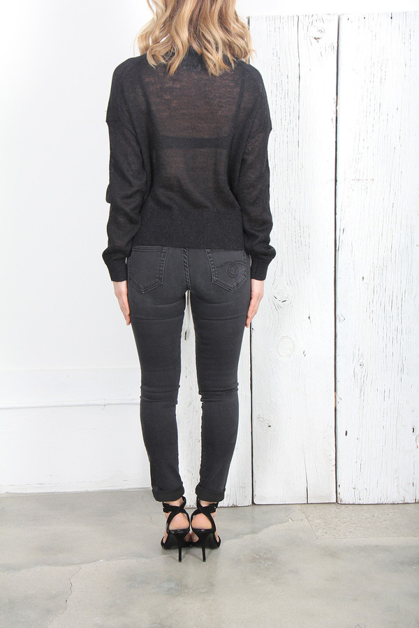 Acne Studios RYSSA SIDE BUTTON SWEATER