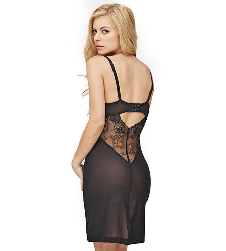 Fortnight Black Ivy Cut-Out Slip