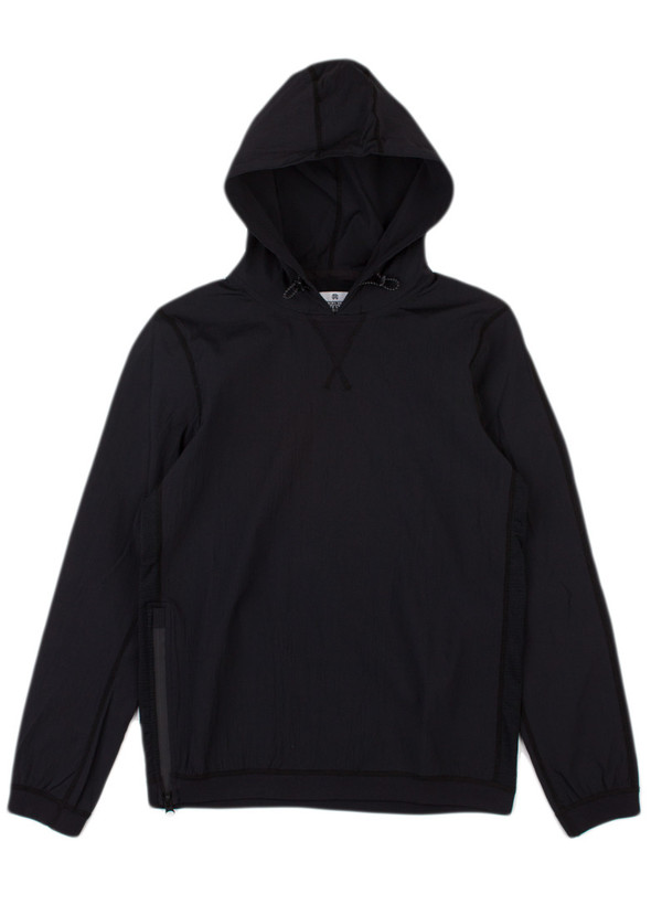 Men's Reigning Champ Woven Stretch Nylon Long Sleeve Pullover Hoodie Black