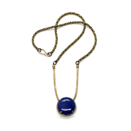 Laurel Hill Jewelry Amla Necklace // lapis