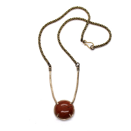 Laurel Hill Jewelry Amla Necklace // red jasper