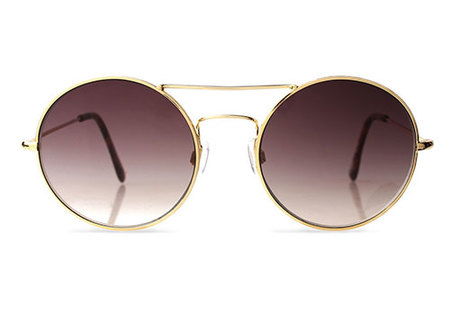 Illesteva Delon Gold with Brown Gradient Sunglasses