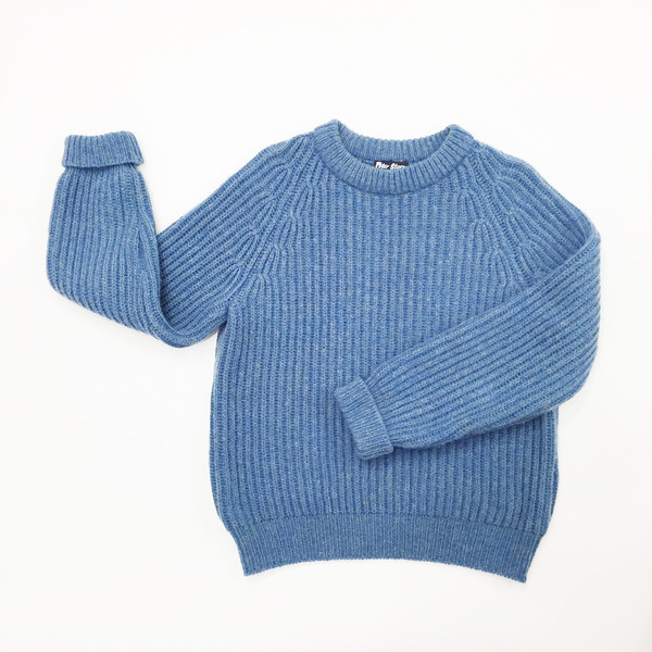 Johan Sky Blue Wool Sweater