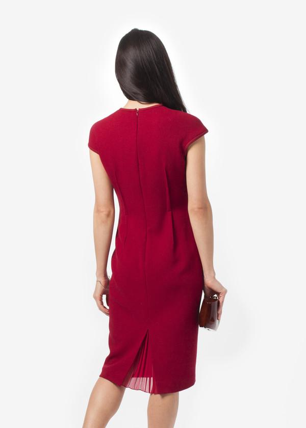 Amelia Toro Wool Crepe Fitted Dress