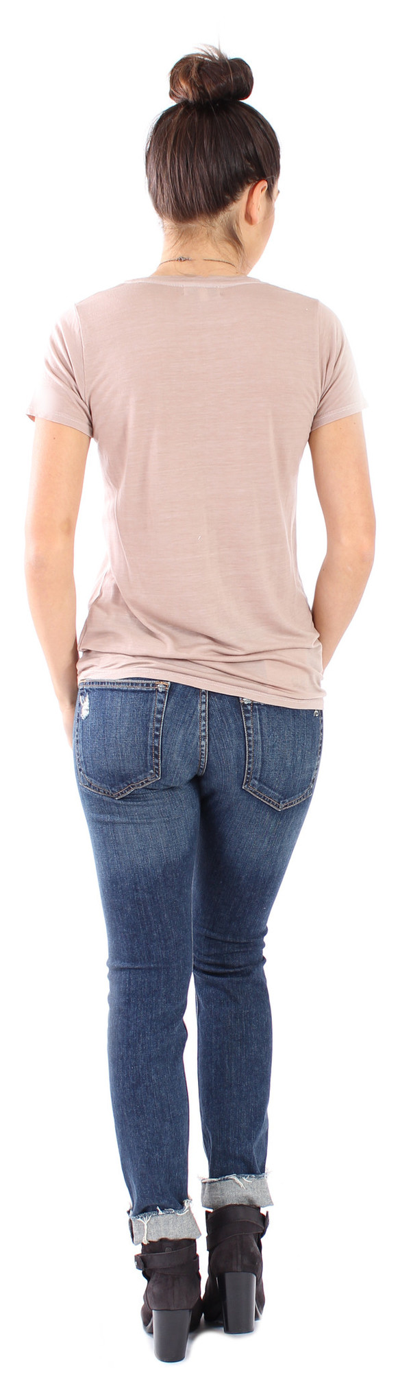 The Lady & The Sailor Basic Tee in Almond