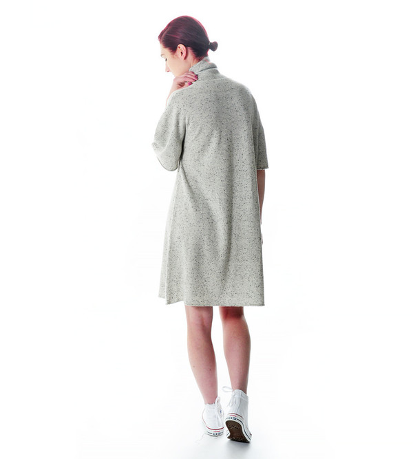 Ryan Roche Cashmere Knit T-Shirt Sweater Dress