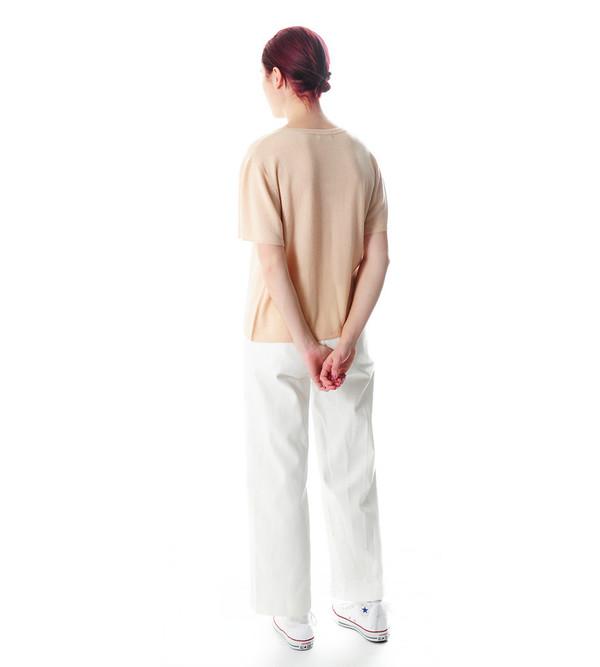 Ryan Roche Nude Cashmere T-Shirt Sweater