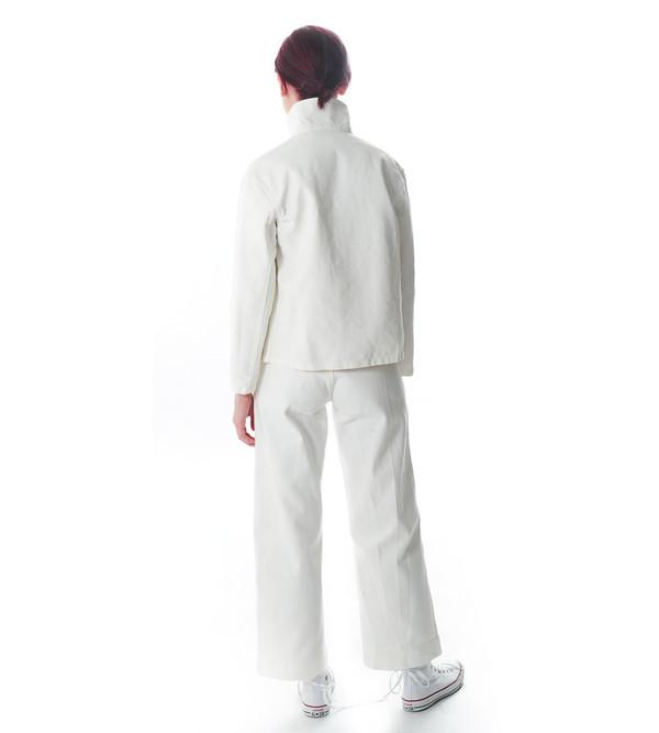 Caron Callahan White Denim Krasner Jacket