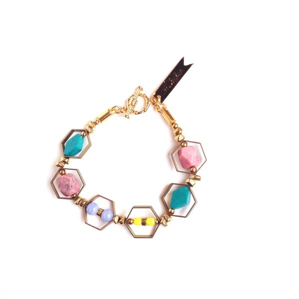 Marijke Bouchier Boho honeycomb bracelet