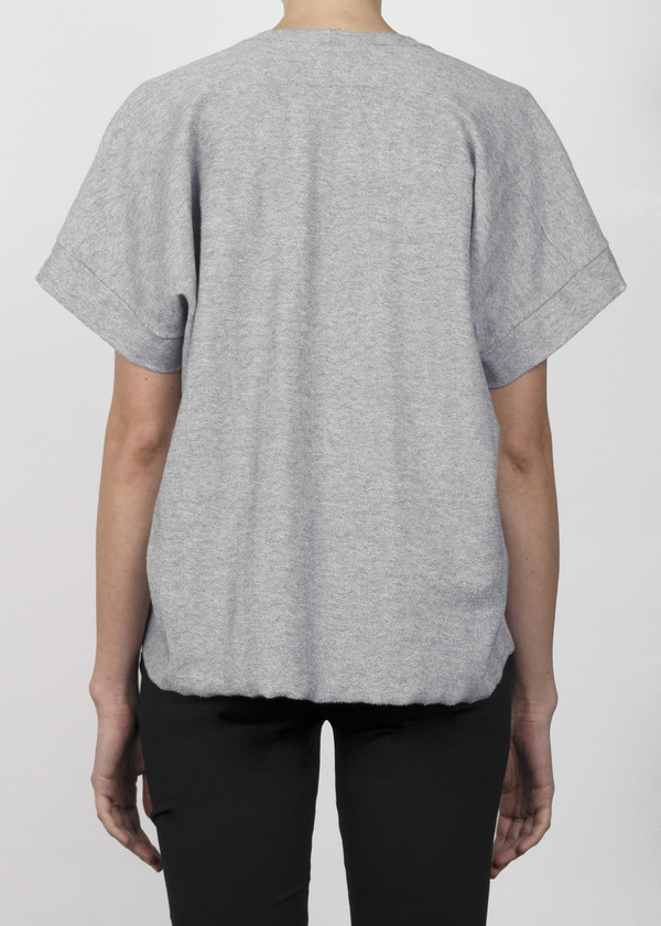 box crop t - grey heather