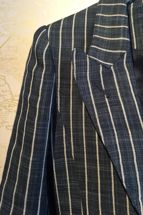 Smythe Pinstripe patch pocket blazer