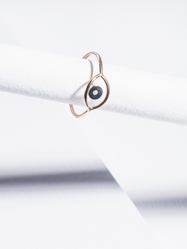 STEFANIE SHEEHAN Gold Evil Eye Ring