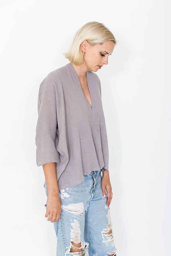 Miranda Bennett Muse Top, Cotton Gauze in Salton