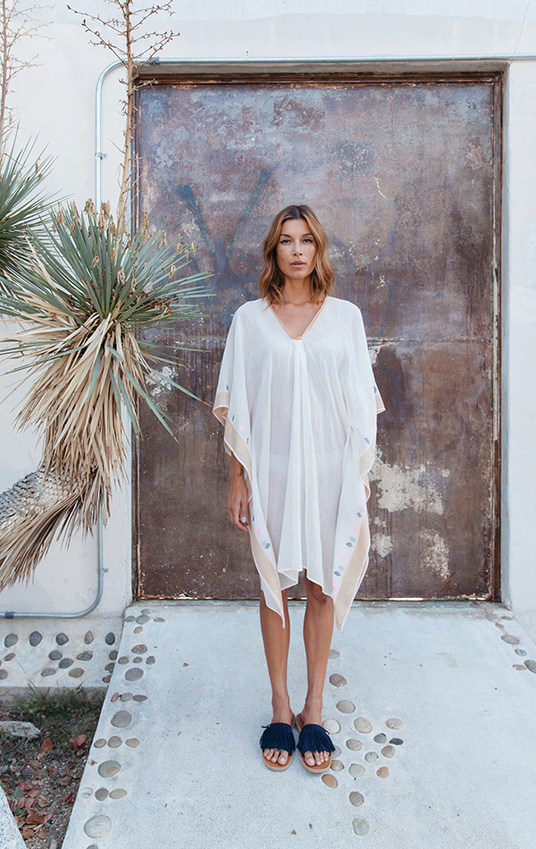 Two NYC Caftan with silk border