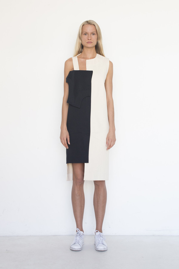 Nancy Stella Soto Cotton Offset Flap Dress
