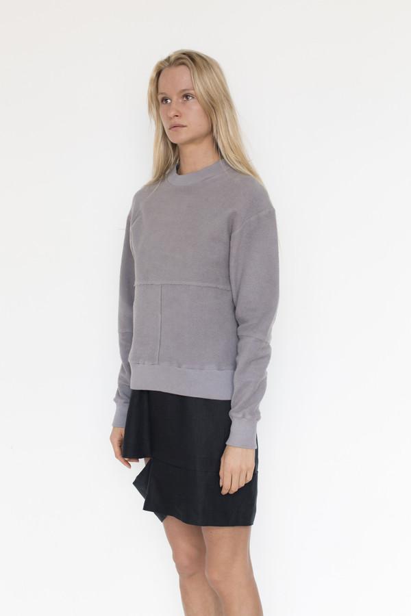 Eckhaus Latta Pewter Lapped Sweatshirt
