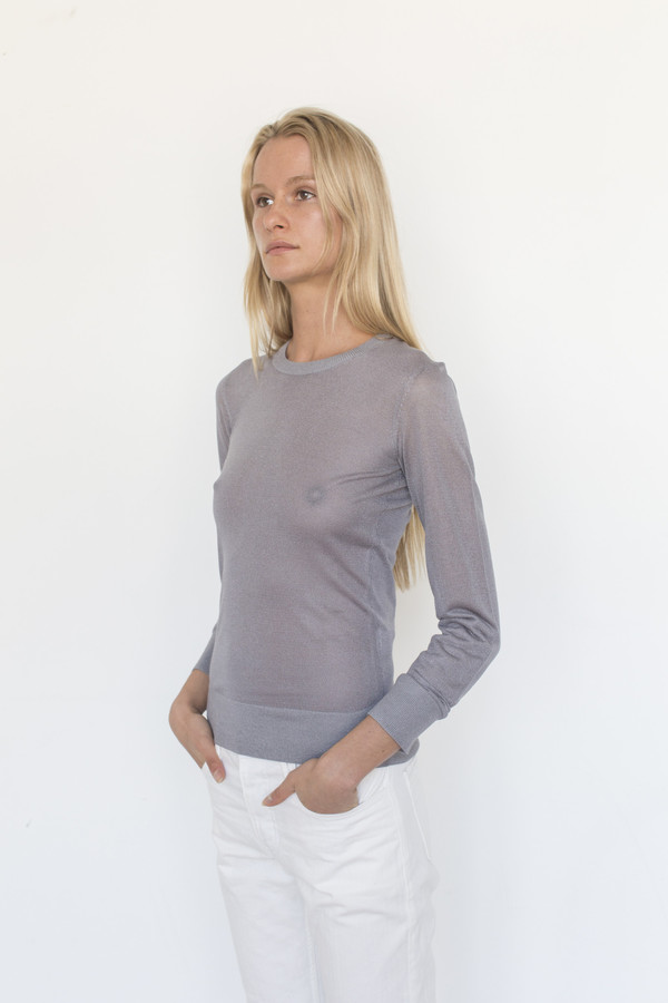 Tom Wood Viscose Crew Knit