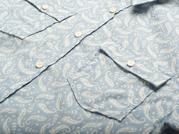 Men's Free note Indigo Paisley Short Sleeve