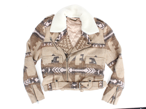 Capulet Shearling Collar Moto Jacket