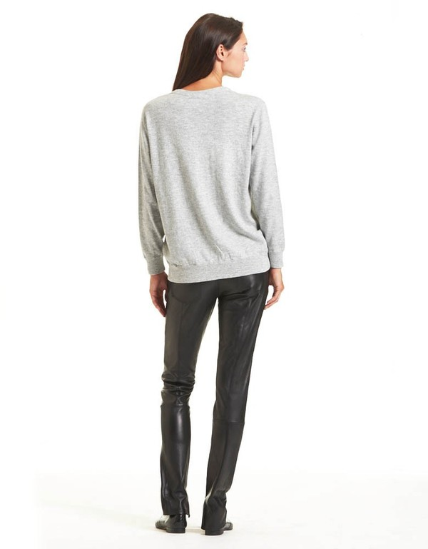 Rodebjer The Long Sweater In Gray Melange