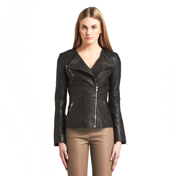 LAMARQUE PAYTON Leather Hip-Length Biker Jacket
