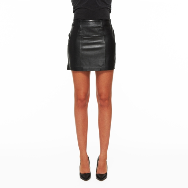 LAMARQUE Leather Mini Skirt